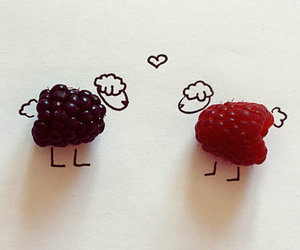love, sheep, and raspberry image