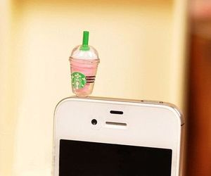 iphone, starbucks, and cute image