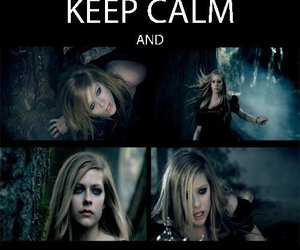 Avril Lavigne, keep calm, and text image
