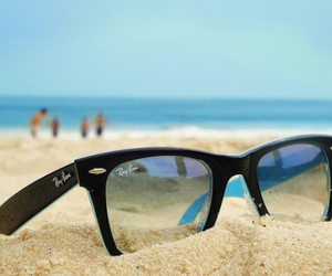 beach, sunies, and glasses image