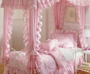 bedroom, gyaru, and pink image
