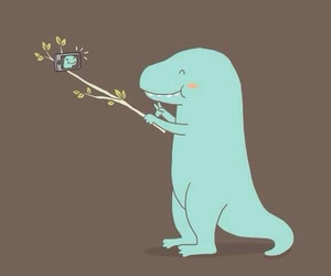 selfie, dinosaur, and funny image