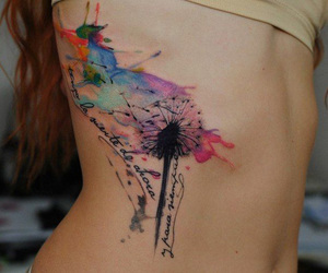 colorful, tattoo, and watercolor image