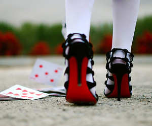shoes, red, and cards image