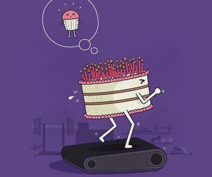 cake, cupcake, and funny image