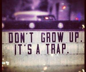 quote, trap, and forever image