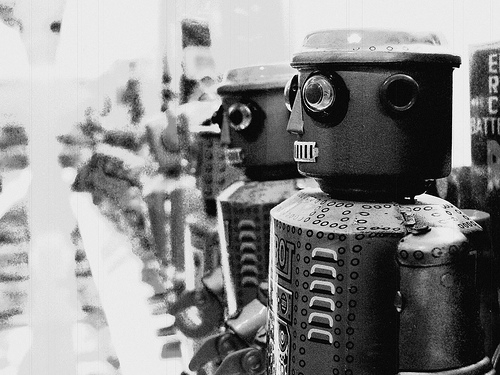 vintage and robots image