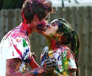 colors, couple, and painting image