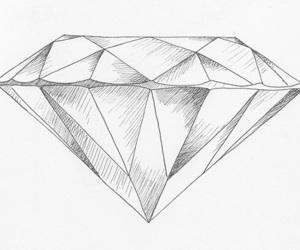 diamond, drawing, and art image