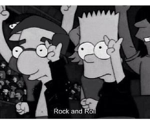 simpsons, rock and roll, and rock image