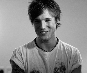McFly, dougie poynter, and black and white image