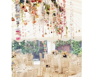 decoration, wedding party, and dinner image
