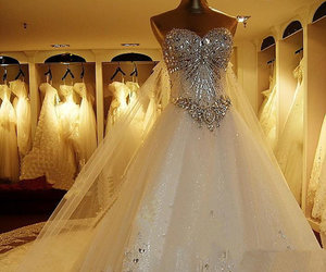 bridal gown, wedding gown, and fashion image