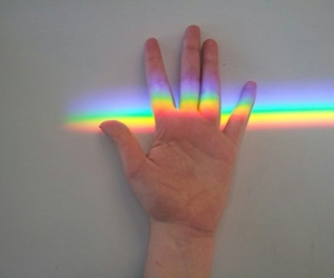 rainbow, hand, and indie image