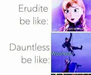 frozen, divergent, and amity image