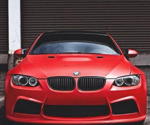 red, bmw, and car image