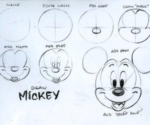 mickey, draw, and disney image