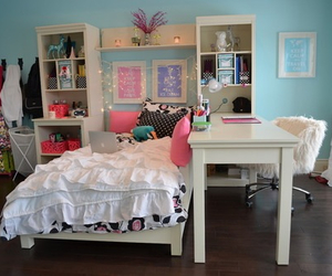 desk, fashion, and floral image