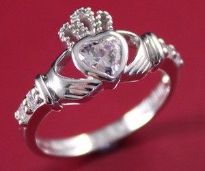 claddagh ring, heart ring, and irish claddagh image