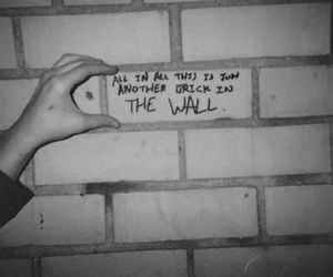 Pink Floyd, wall, and brick image