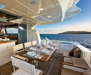 boat, luxury, and sea image