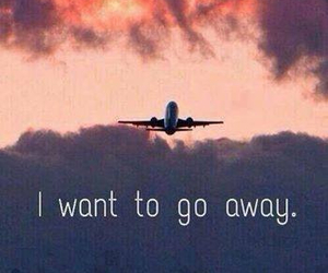 air, airplane, and go away image