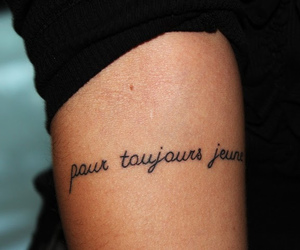 tattoo, Forever Young, and french image