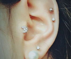 ear, tattoo, and love image