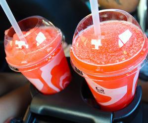 drink, tumblr, and orange image