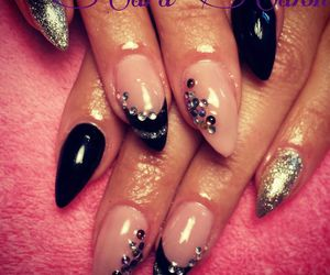 black, nails, and silver image