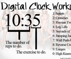 workout, fitness, and clock image