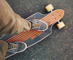 healthy, longboard, and skating image
