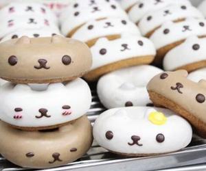 food, donuts, and kawaii image