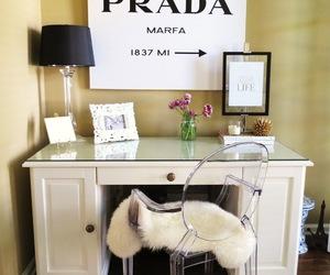 Prada, decor, and desk image