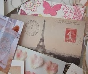 paris, letters, and pink image
