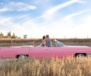 pink, car, and couple image