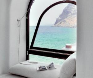 sea, window, and white image