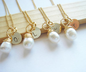 gift set, gold necklace, and handmade jewelry image