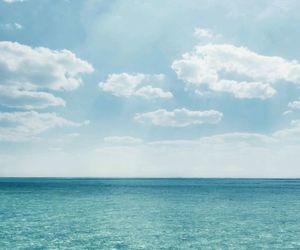 blue, sea, and sky image