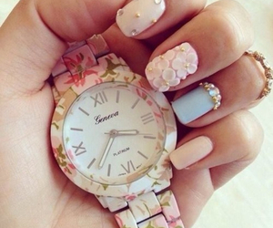 baby pink, flowers, and girly image