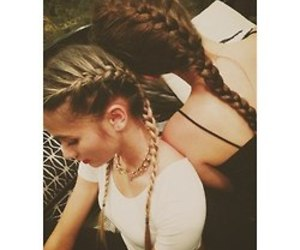 braid, blonde, and friends image