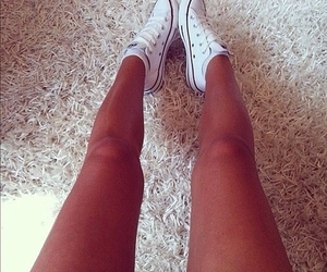 girl, legs, and converse image
