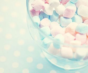 marshmallow, pastel, and food image