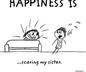 happy and scaring image