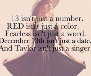 Taylor Swift, 13, and red image