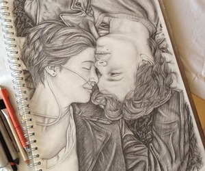 the fault in our stars, drawing, and tfios image