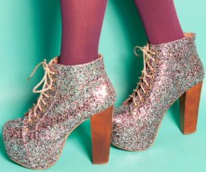 fashion, glitter, and shoes image