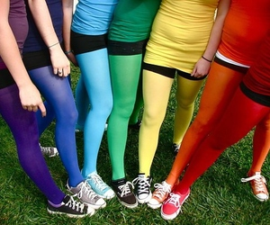 colors, rainbow, and friends image