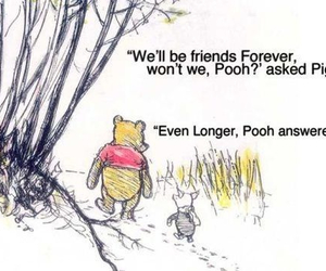 quote, piglet, and forever image
