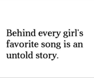 song, girl, and story image